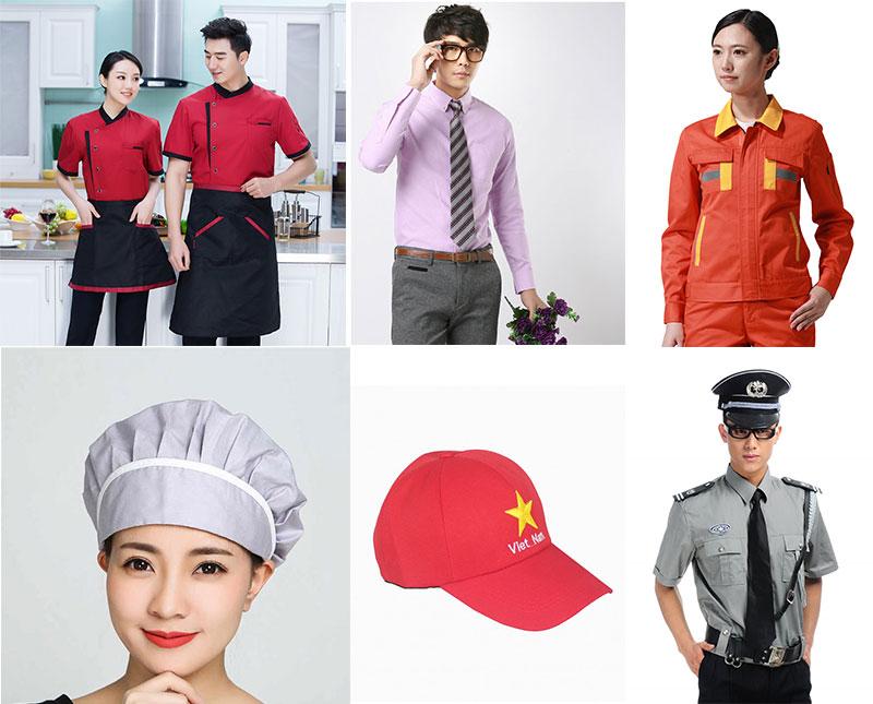 đa dạng các loại may đồng phục